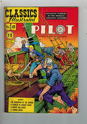 CLASSICS ILLUSTRATED COMIC No. 41 The Pilot HRN 126