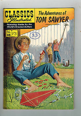 CLASSICS ILLUSTRATED COMIC No. 33 Adventures of Tom Sawyer HRN 126