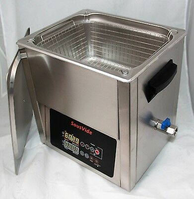 Sous Vide 10L stainess steel tank precise temp control with manual calibration