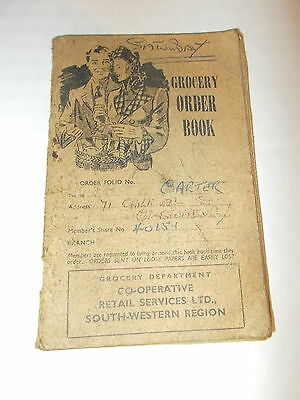 A Co-operative Grocery Order Book from the 1960's - Name of Carter,Glastonbury