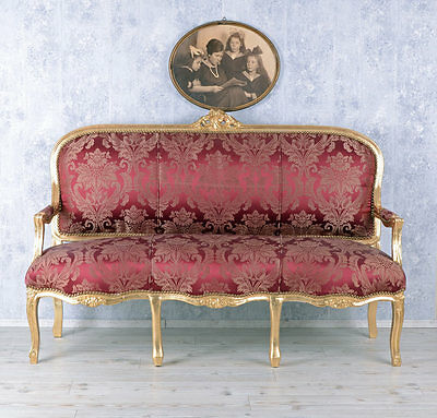 Giant Sofa Marie Antoinette Rococo Style Bench Royal Sofa