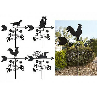 Garden Animal Design Weathervane Metal Ornament Decor Wind Spinner Antique New