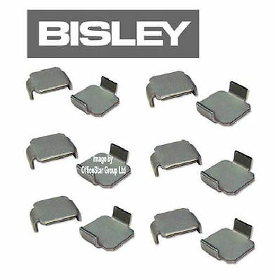 12 x  NEW Bisley Shelf Clips - Set of Fittings for Cupboards/Cabinets Ref 8589 ¸