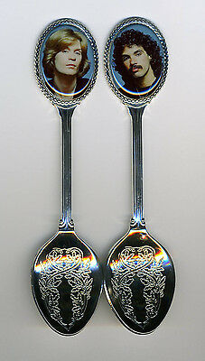 Hall & Oates 2 Silver Plated Spoons Featuring Hall & Oates