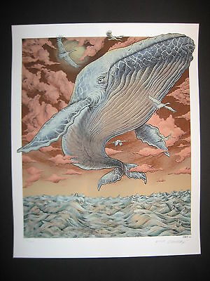 """Emek """" whale"""" signed and numbered Edition of 650"""