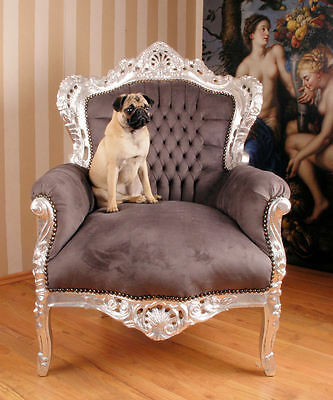 Baroque Style Armchair Chair Shabby Chic