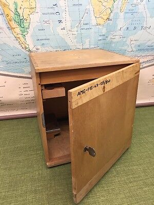 Vintage Wooden Cabinet Made In Poland Hospital Equipment Storage Box