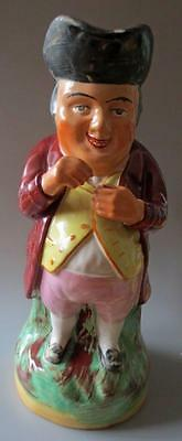 Antique Pottery Toby Jug Snuff Taker Large