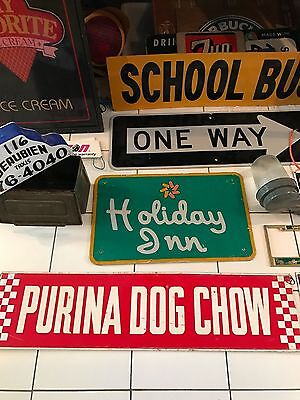 Rare Vintage One Way Sign