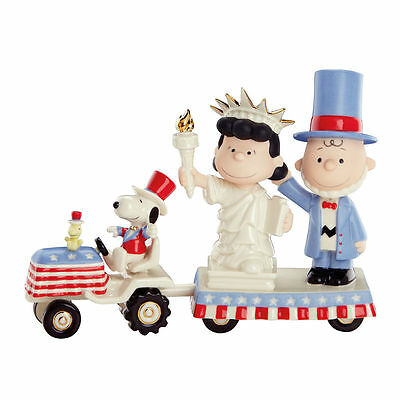 Lenox Peanuts It's Independence Day Charlie Brown Figurines July 4th Parade NEW