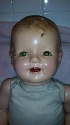 *SALE* Extra Large Antique CHUNKY Composition & Cloth Baby Doll w/ Cryer B.I.N.!