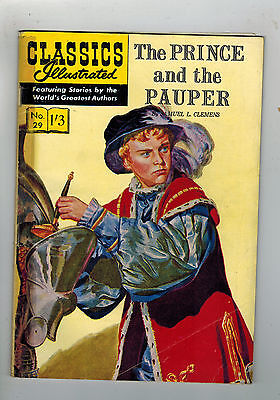 CLASSICS ILLUSTRATED COMIC No. 29 Prince and the Pauper HRN 129