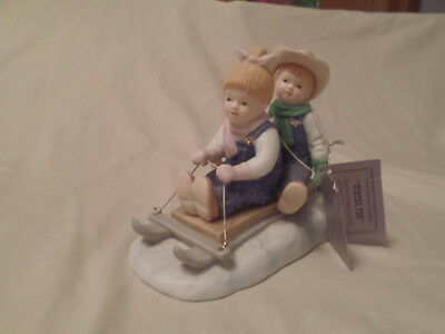 "Home Interior Homco Denim Days #15350-99 ""winter Fun"" With Tag"