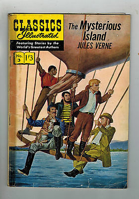 CLASSICS ILLUSTRATED COMIC No. 3 The Mysterious Island HRN 129