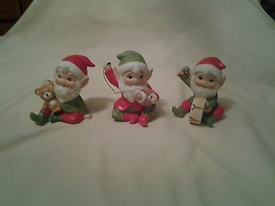 Home Interiors Figures Set Of 3 Elves #5618