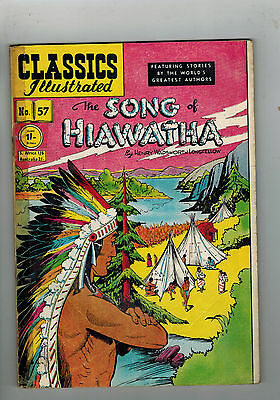 CLASSICS ILLUSTRATED COMIC No. 57 Song of Hawatha HRN 121
