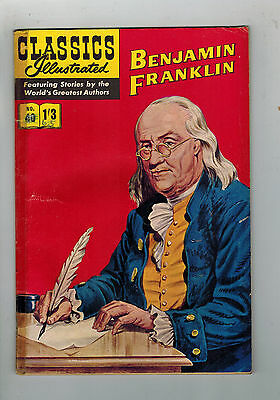 CLASSICS ILLUSTRATED COMIC No. 40 benjamin Franklin HRN 126