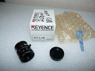 New Keyence Cv-L16 Camera Lense For Machine Vision 16Mm F1.6 C-Mount