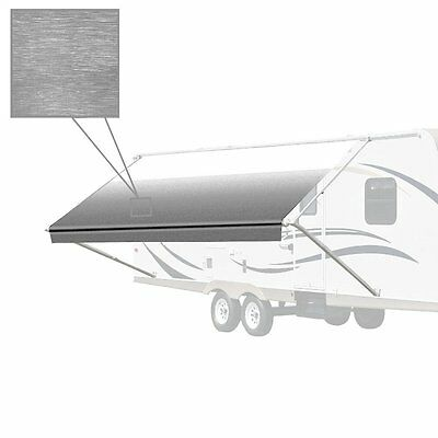 ALEKO Retractable RV or Home Patio Canopy Awning Grey Color 12Ft X 8Ft