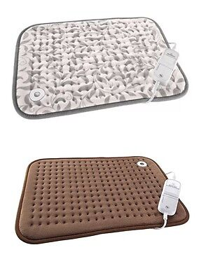 Electric Stomach & Back Heating Pad Pain Stress Relief With 6 Heat Setting,brown