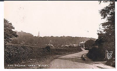 Rp Postcard The Village Great Witley 1914