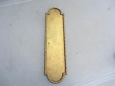 Victorian Brass Finger Plate Push Door Handle Architectural Antique Vintage Old