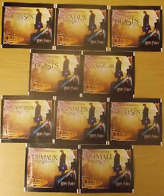 Fantastic Beasts ~ Panini Sticker Collection ~ 10 x Sealed Packs = 50 Stickers