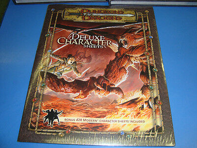 DELUXE CHARACTER SHEETS New Unused Dungeons and Dragons GAME 3.5 Book