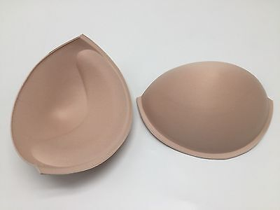Bra Cups (Beige) Sew In, Push Up Various Sizes