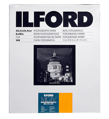 Ilford Multigrade IV RC Deluxe B&W VC Paper (8 x 10in, Satin, 100 Sheets)