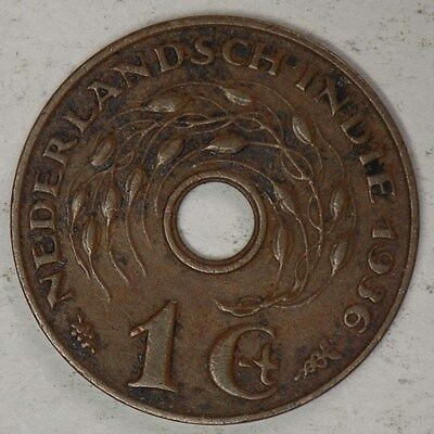 Netherlands East Indies 1936 1 Cent Coin