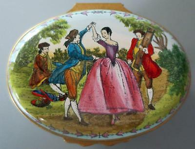 Halcyon Days Enamel Music Box Plays Minuet by Boccherini Limited Edition