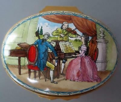 Halcyon Days Enamel Music Box Plays The Gypsy Rondo by Haydn Limited Edition