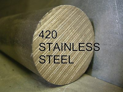 """STAINLESS STEEL SS 420 3//8 x 12/"""" ROUND ROD BAR STOCK FOR LATHE CNC MACHINE SHOP"""