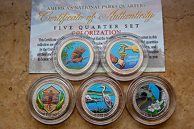USA The Beautiful Quarter Dollar Reine Serie 2015 Farbe und Gekapselt   #