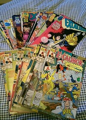 Excalibur X-Men lot 33 issues Warren Ellis Alan Davis Claremont