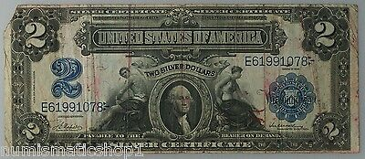 1899 $2 Silver Certificate 'Mini-Porthole' - Popular Two Dollar Washington Note