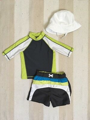 Circo Toddler Boy Swim Suit Set Rash Guard Trunks 18 Months