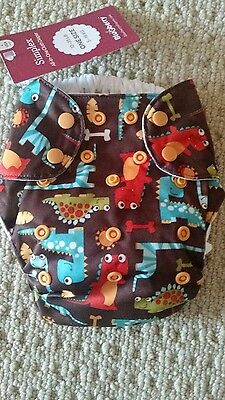 NWT Blueberry One Size Simplex All In One Cloth Diaper in Dino Party