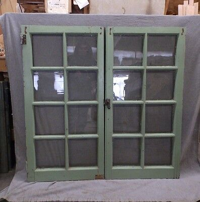 Pair Antique Casement Windows Cabinet Cupboard Pantry Door Bookcase Vtg 67-17R