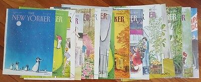 Lot of 20 New Yorker Mag COVERS ONLY Art by Saxon 1977 - 1986