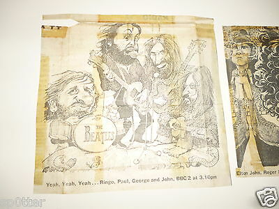 THE BEATLES Let it Be THE WHO Tommy BBC TV film list cutting/clipping +FREE Mag