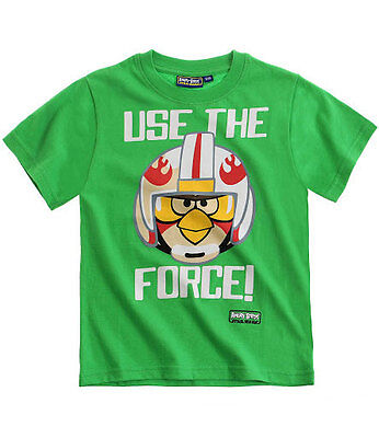 Boy Angry Birds Star Wars T-Shirt Cotton  licensed Tee 10-12 years