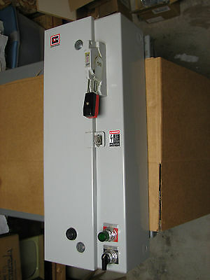 Cutler Type 1 120V 208V Combination Motor Starter Disconnect 30 Amp 250V