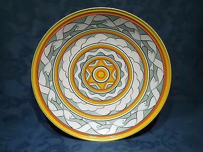 """Poole Pottery Studio 14"""" Bowl / Dish Seagull Design by Sally Tuffin 1995"""
