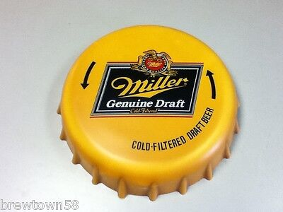 Miller Genuine Draft beer sign bottle cap wall tacker bar signs 1 draft beer GP3