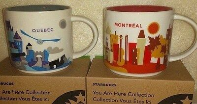 Starbucks You Are Here City Series Collection MONTREAL & QUEBEC MUG NWT (2MUGS)