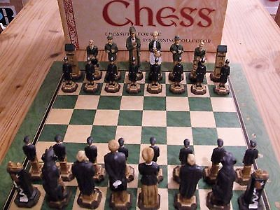SAC Sherlock Holmes Chess Set – hand decorated (with board) rrp £300