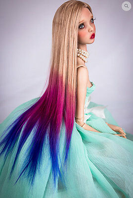 ❤ Popovy Sisters Doll Wig Sea Sunset by Amadiz Studio Resin Ombre Doll Wig ❤