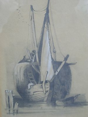 Antique Picture Of A Sailing Boat